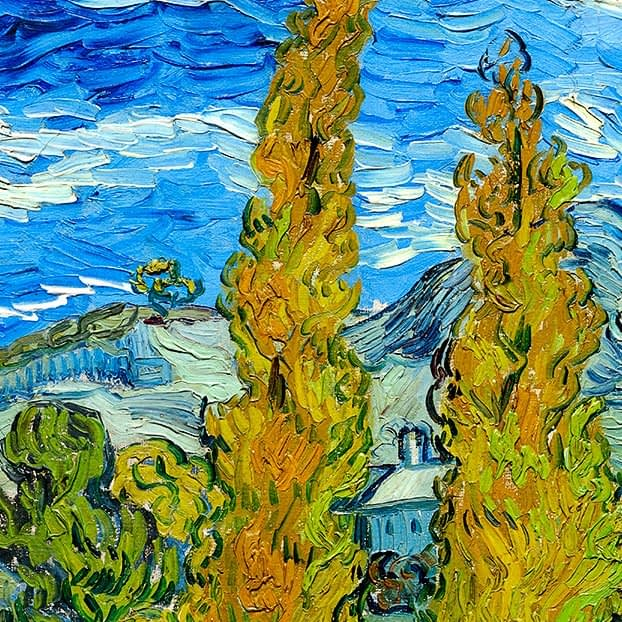 The Poplars at Saint-Rémy | Vincent Van Gogh | 1889