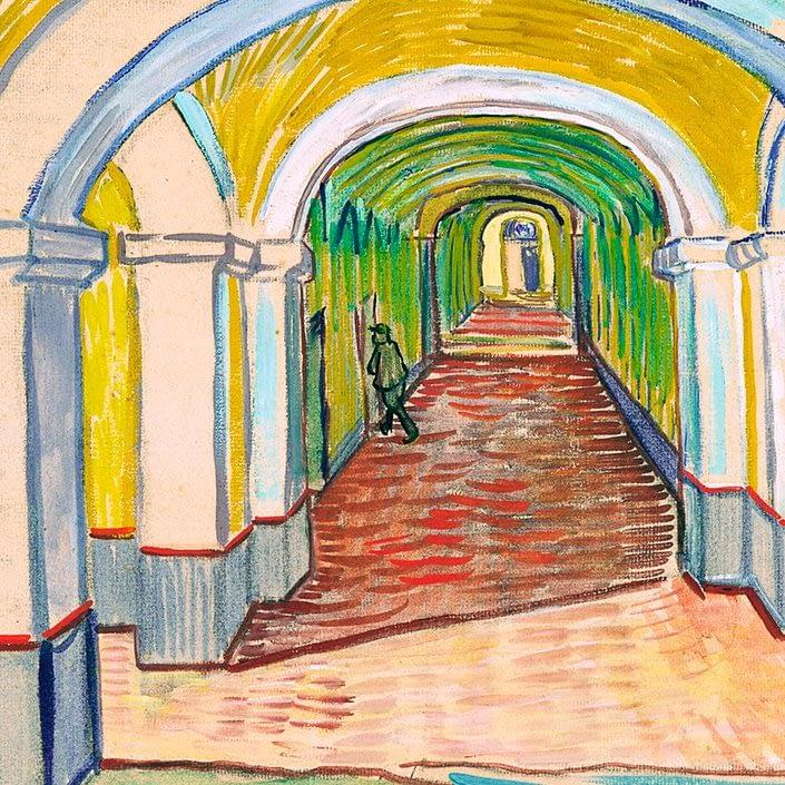 Corridor in the Asylum | Vincent Van Gogh | 1889