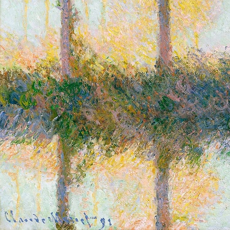 The Four Trees | Claude Monet | 1891