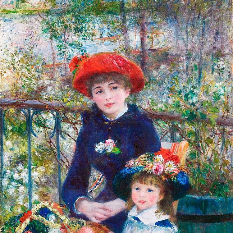 Two Sisters On the Terrace | Pierre Auguste Renoir | 1881