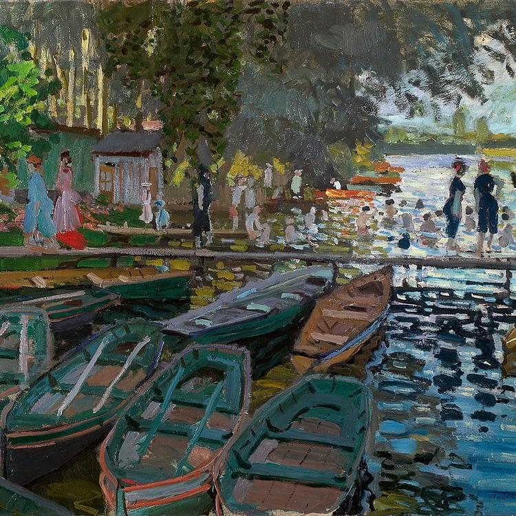 Bathers at la Grenouillère | Claude Monet | 1869