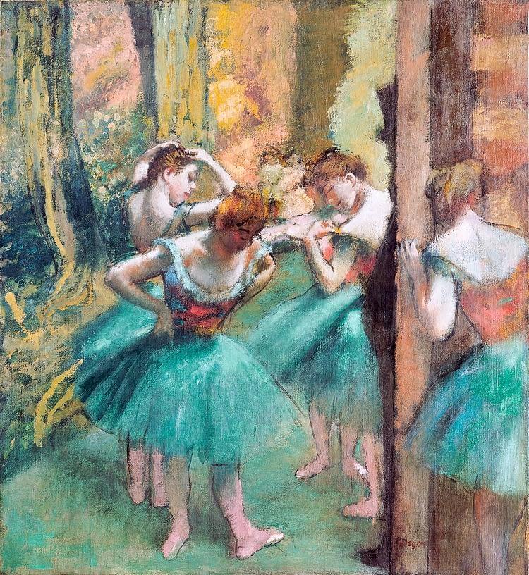 dancers pink and green edgar degas