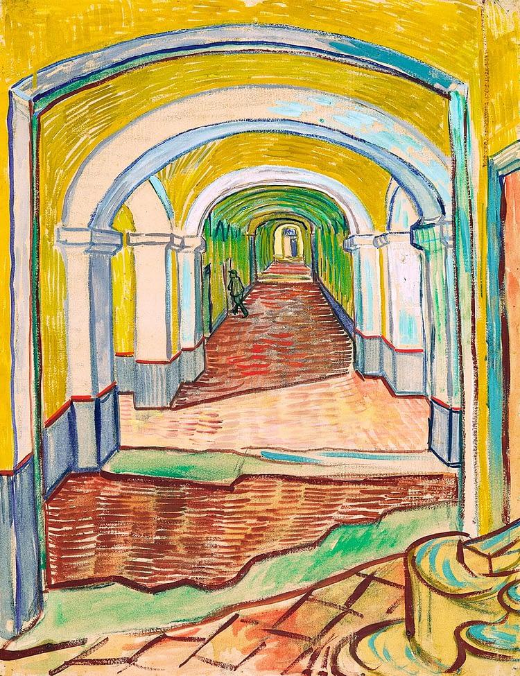 corridor in the assylum vincent van gogh